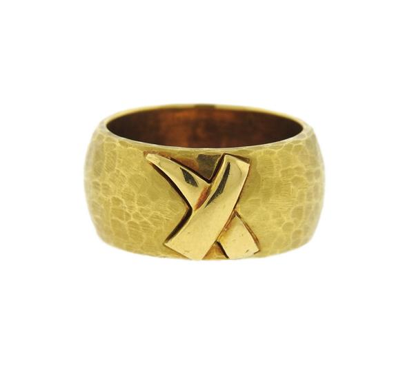 Tiffany & Co Paloma Picasso 18K Gold X Band Ring
