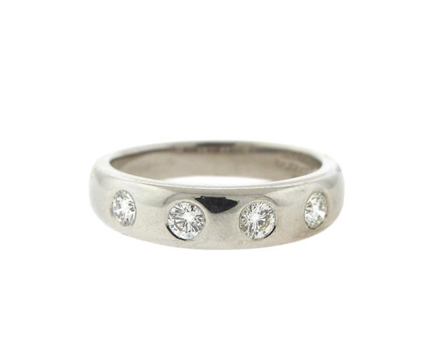 Van Cleef & Arpels VCA 18K Gold Diamond Band Ring