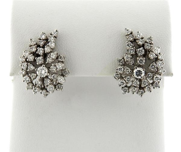 14K Gold Diamond Cocktail Earrings