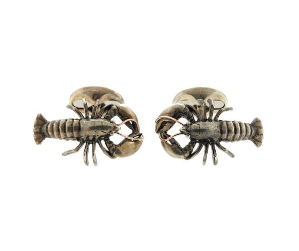 Ralph Lauren Sterling Silver Lobster Cufflinks