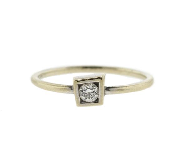 Tiffany & Co Frank Gehry 18k Gold Diamond Ring