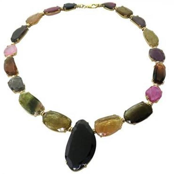 Tous Multicolor Gemstone 18k Gold Necklace
