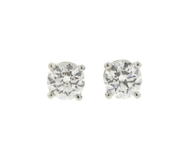 Tiffany & Co Platinum Diamond Stud Earrings