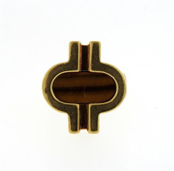 Cartier Dinh Van 18K Gold Tiger Eye Ring