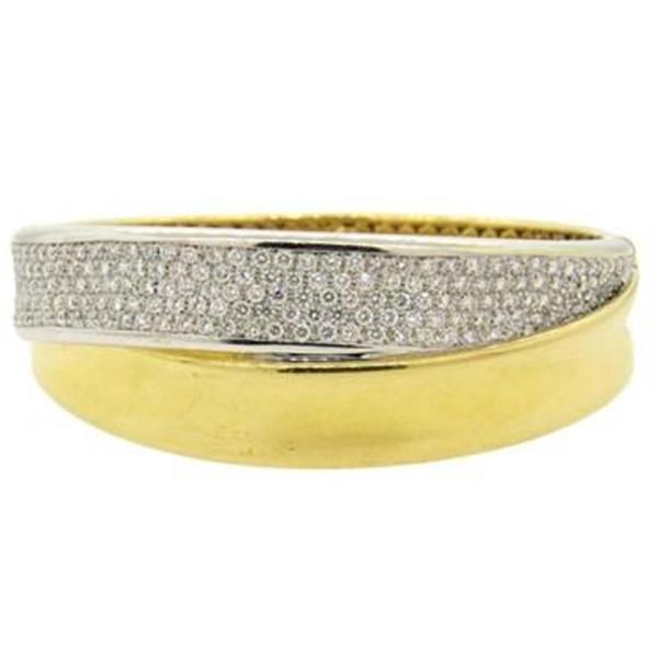 Wempe Crossover 5.00ctw Diamond 18k Gold Bangle Bracelet