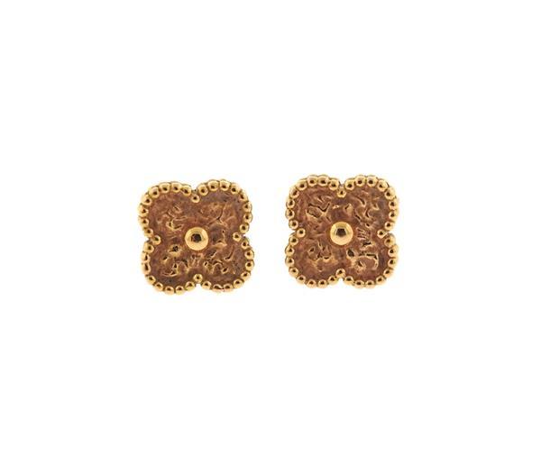Van Cleef & Arpels VCA Sweet Alhambra Rose Gold Earrings