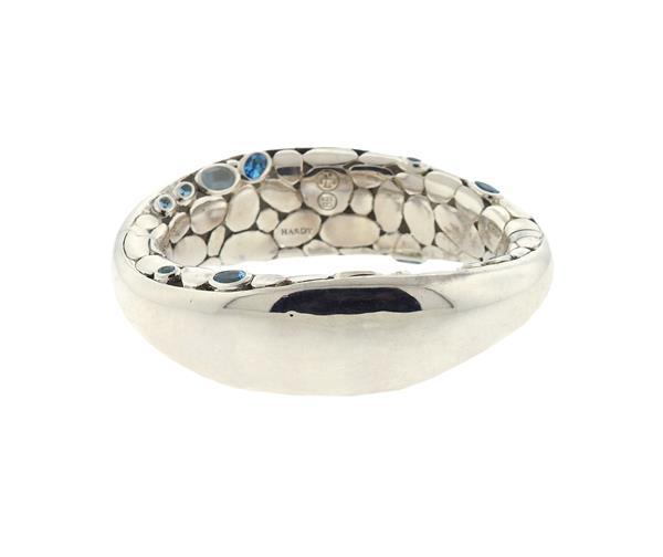 John Hardy Batu Kali Sterling Silver Blue Topaz Bracelet