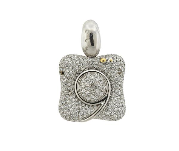 La Nouvelle Bague 18k Gold Diamond Pendant