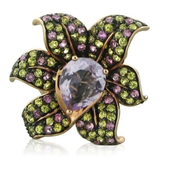 Levian Le Vian 14K Gold Amethyst Sapphire Flower Ring