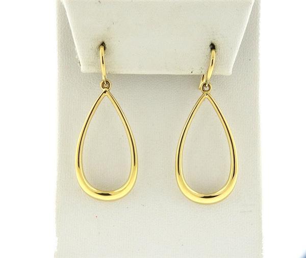 Tiffany & Co 18k Gold Teardrop Earrings