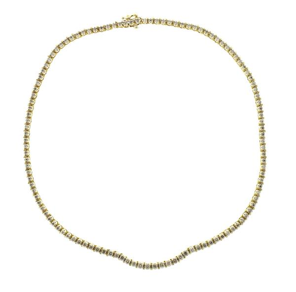 14K Gold Diamond Tennis Necklace