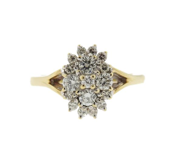 Keepsake 14K Gold Diamond Cluster Ring