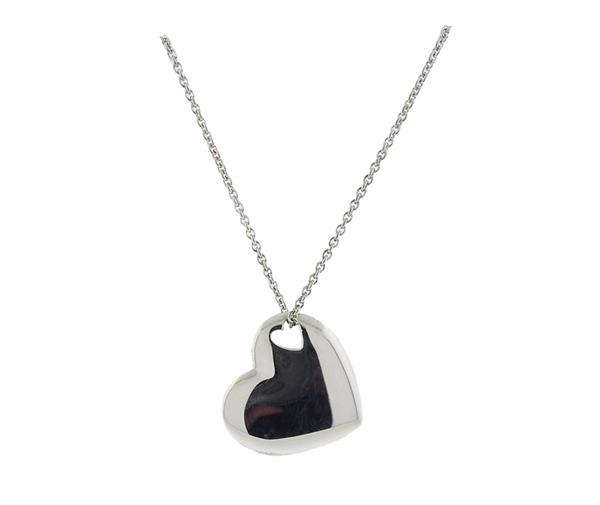 Tiffany & Co. Sterling Silver Heart Pendant Necklace