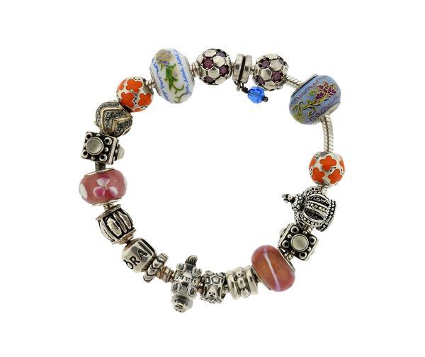 Pandora Sterling Silver Multi Charm Bracelet