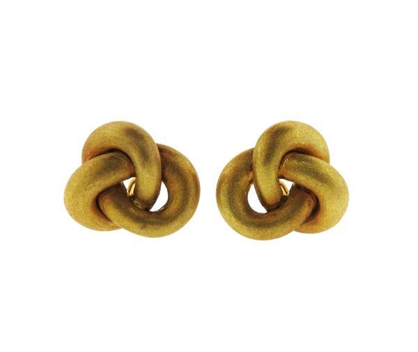 Roberto Coin 18K Gold Knot Earrings