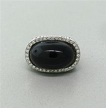Carrera Y Carrera 18k Gold Diamond Onyx Ring