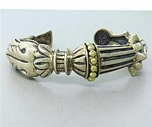 Lagos Caviar Sterling 18k Gold Cuff Bracelet