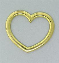 Signed Cartier 18k Gold Heart Pendant