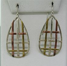 Robert Lee Morris Mixed Metal Earrings