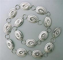 Native American Sterling Belt