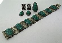 Native American Sterling Gemstone Jewelry Lot