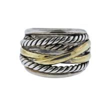 David Yurman Crossover 14k Gold Silver Ring