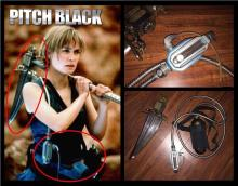 Pitch Black (2000) - Screen Matched Breather and Ceremonial Ax Head used by Radha Mitchell