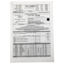 Rogue One A Star Wars Story (2016) - Production Used Call Sheet