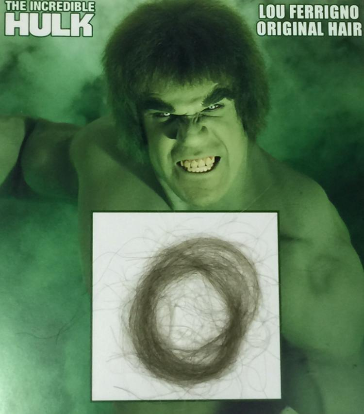 The Incredible Hulk 1978 1982 Swatch Of Hair From Lou Fe