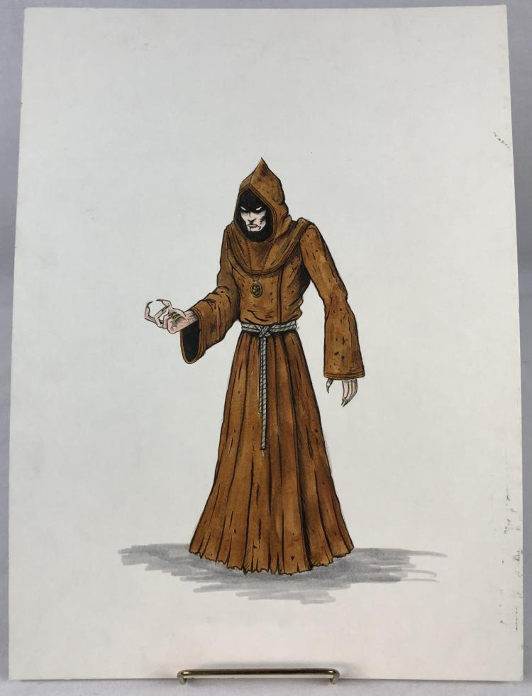 Lot 1: Wishmaster (1997) - Original Djinn Cultist Color Concept Art
