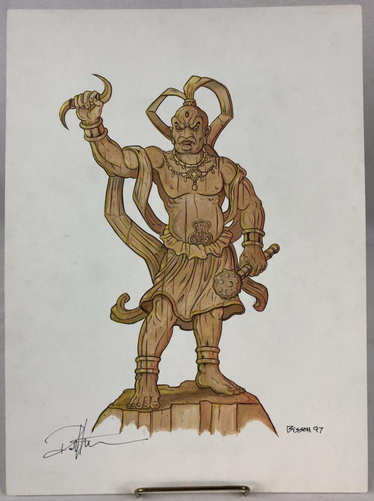 Wishmaster (1997) - Ahura Mazda Statue Signed Color Concept Art