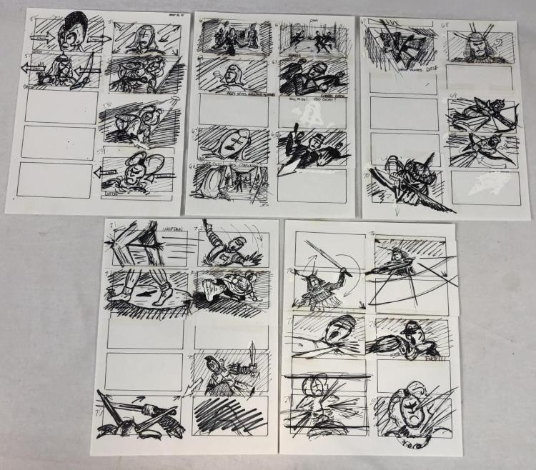 Wishmaster (1997) - Original Hand Drawn Storyboards - Set of 5 lot C