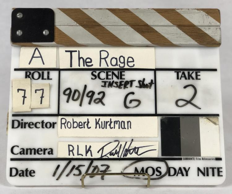 The Rage (2007) - Original Production Used Director's Slate
