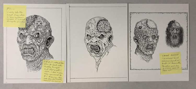 The Rage (2007) - Creature Designs Concept Original Art Set of 3 - Lot C