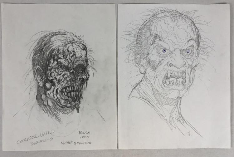 The Rage (2007) - Mutant Grandpa Concept Art - Set of Two