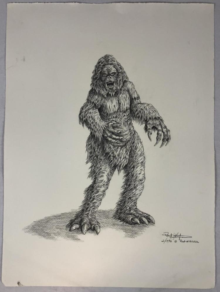 Yeti Original Concept Art by Robert Kurtzman
