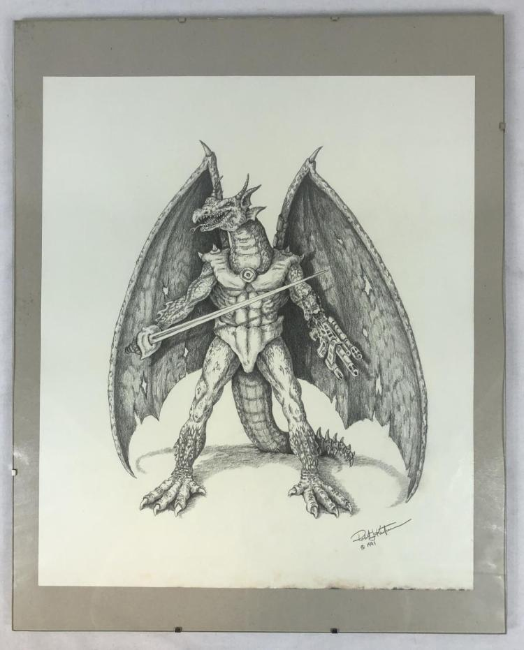 Dragon Warrior Original Concept Art by Robert Kurtzman