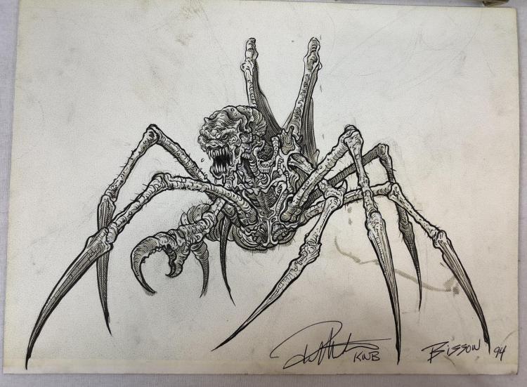 Spider Bug Creature Original Hand Drawn Concept Artwork