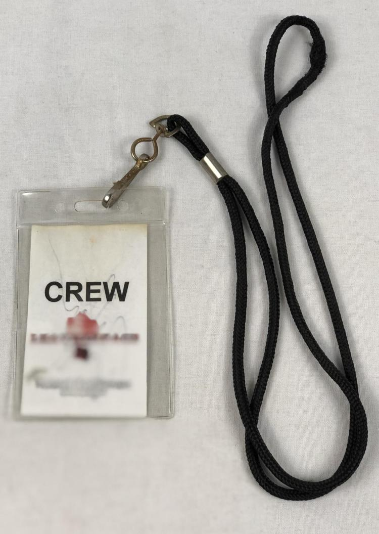 """""""Texas Chainsaw 3D (2013)"""" Robert Kurtzman Signed Crew Pass"""