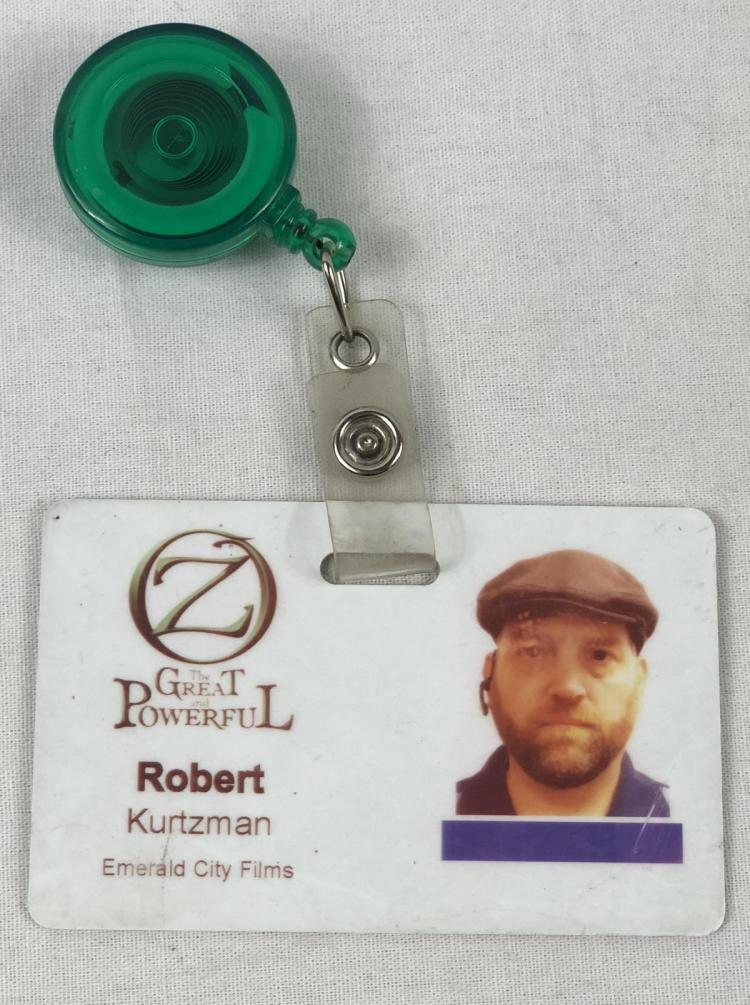 """Oz the Great and Powerful"" (2013) Robert Kurtzman Signed Crew Pass"