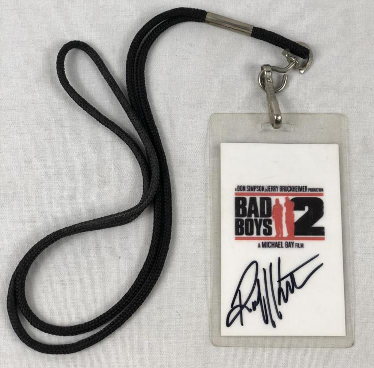 "Lot 47: ""Bad Boys II"" (2003) Robert Kurtzman Signed Crew Pass"
