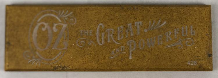Oz the Great and Powerful (2013) - Screen Used Brick From The Yellow Brick Road