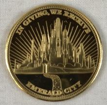 Lot 50: Oz the Great and Powerful (2013) - Gold Coin Screen Used Prop & Crew Gift