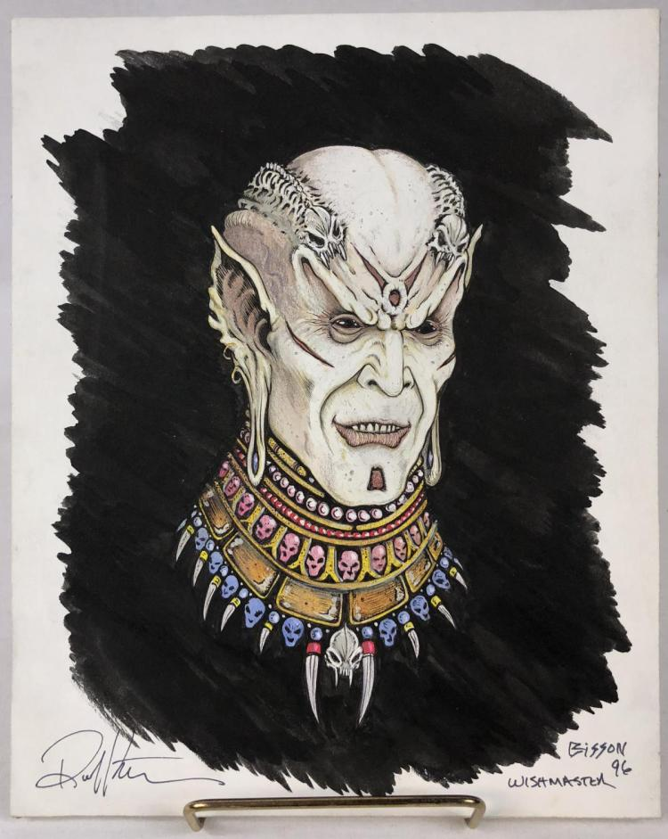 Lot 55: Wishmaster (1997) - Djinn Color Concept Art