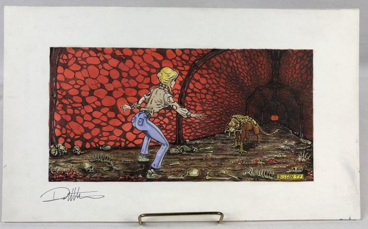 Wishmaster (1997) - Djinn Dog & Alexandra Color Concept Art