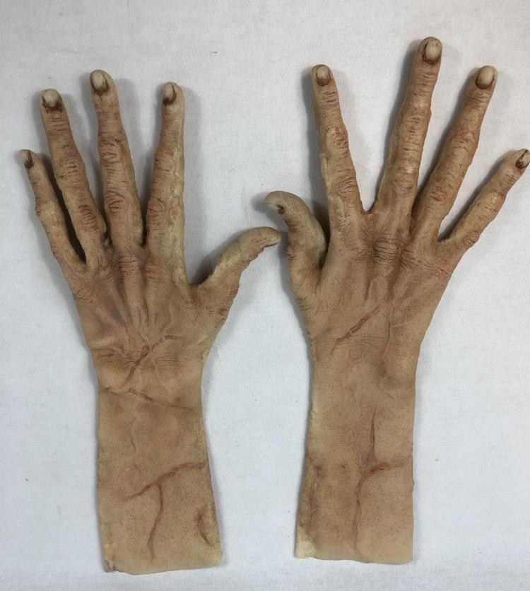Lot 67: The Bye Bye Man (2017) - Doug Jones Screen Used Silicone Mask & Hands