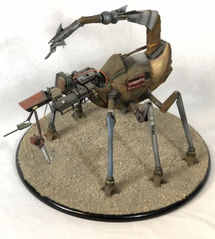 "Lot 73: ""Junk"" - Wes Craven - Scorpion Bot Concept Pitch Model"