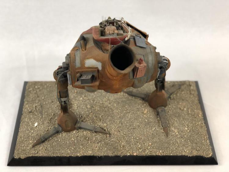 """Lot 77: """"Junk"""" - Wes Craven - 2-Legged Bot Concept Pitch Model"""