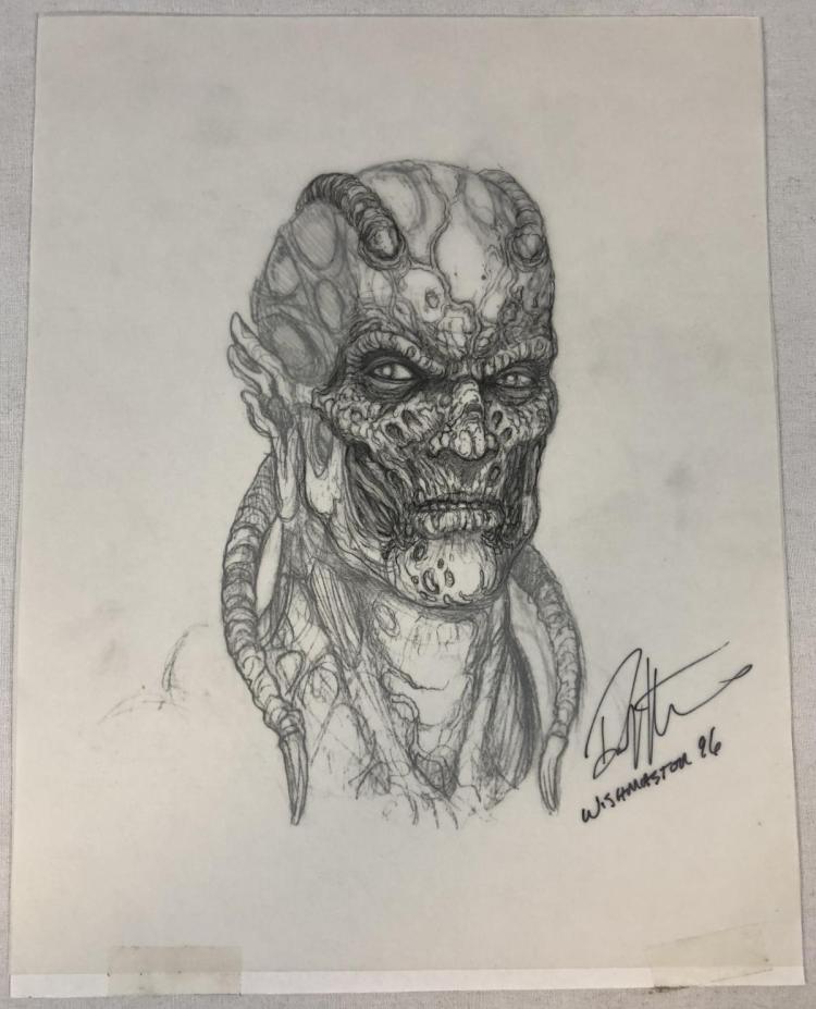 Wishmaster (1997) - Djinn Head Concept Artwork - Set of 3