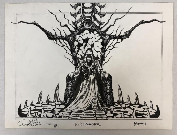 Wishmaster (1997) - Djinn On His Throne Chair Concept Artwork